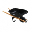 6 cu. foot Heavy Duty Steel with Wood Handles and Knobby Tire. Pro/Contractor